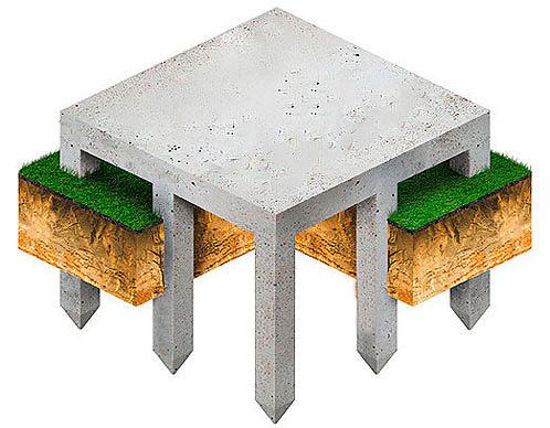 фундамент на железобетонные забивных сваях