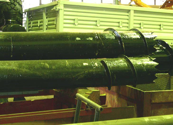 Винтовая свая без конической части для вечномерзлого грунта, разработанная ОАО «Завод Стройдормаш».